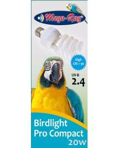 für €19,90, MegaRay Bird Lamp Compact 20W, Vogellampe Kompakt, UV vergl.bar mit Arcadia