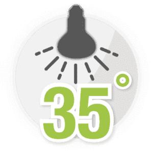 25° Abstrahlwinkel
