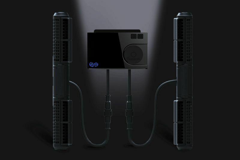 Die Gyre 300 Serie verfügt über ein Ein-Regler-Zwei-Pumpen-System (Pumpe XF330 und XF350 können miteinander gekoppelt werden), mit dem Benutzer die gepaarten Pumpen so programmieren können, dass sie verschiedene Wasserbewegungsprogramme ausführen.