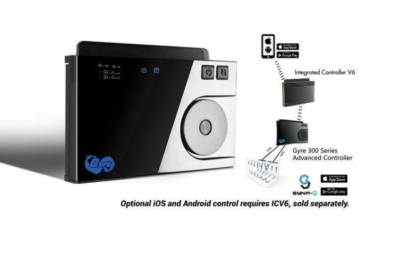 Die Gyre 300 Serie kann von iOS- und Android-Geräten über die Syna-G App gesteuert werden.