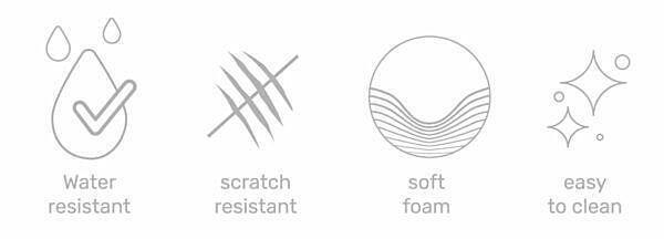 Wasserdicht, Kratz Widerstandfähig, Einfach zu Reinigen, Weiche Füllung, Codura